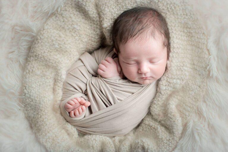 Gepucktes Baby beim Babyshooting von Siebenschön Photography in der Nähe von Ahlen