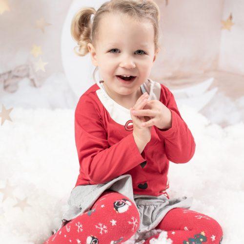 Kinderfotoshooting zu Weihnachten fotografiert von Siebenschön Photography in Hamm